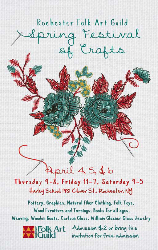 Spring festival of crafts the rochester folk art guild print this invitation for free admission to the show stopboris Images