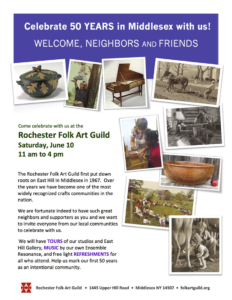 Celebrate 50 YEARS in Middlesex! @ Rochester Folk Art Guild | Middlesex | New York | United States